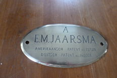 Commemorative sign Head Office Royal fireplaces factory Hilversum - 1910/1915, Hilversum