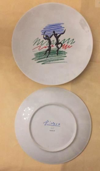 Pablo Picasso (after) - plate made in 1970 for the 50th anniversary of the French Communist Party