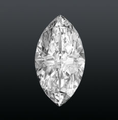 Diamond 0.24 ct, marquise, brilliant Clarity SI 1, colour F. with GIA certificate. Laser engraved ****no reserve****