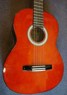 New Valencia Student Series classical guitar 4/4 classic with tuner and cover