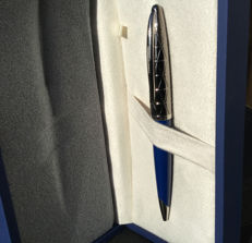 Waterman Contemporary Blue and Gunmetal Ballpoint Pen ST