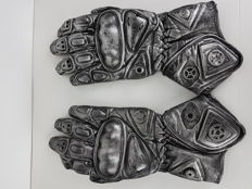 Pair of gloves in steampunk style