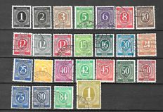 GDR 1946/1964 - Soviet zone Selection between  Michel 166/1079 and Alliierte Besetzung, Selection between Michel 911/968