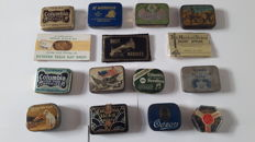 15 Gramophone needle tins, from different countries