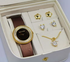 Pierre Cardin – ladies' watch – necklace and earrings – gift set – new condition, never used