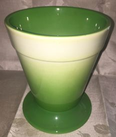 Green airbrushed vase by Galvani