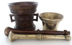 Two mortars with pestle -United Kingdom-(dated 1623)-first half of the 20th century