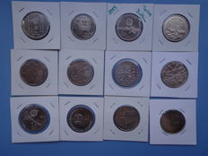 Portugal – 21 commemorative coins of 2 and 2.5 Euros face value