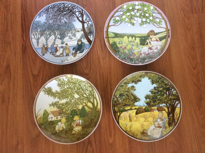 Four seasons wall plates, Villeroy & Boch Heinrich