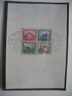 German Reich 1935 - Iposta block - Michel block no. 1