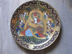 "Polychrome Satsuma decorative plate with ""Maruni"" mark – Japan – around the 1920s"