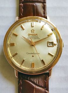 Omega - Constellation  Date Rose/Pink Gold Capped Wristwatch - 1966-1967
