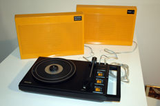 Philips stereo 200 suitcase record player 70tees low Dutch design