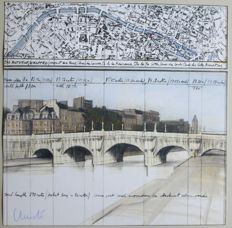 Christo - The Pont Neuf Wrapped, Project for Paris , 1981