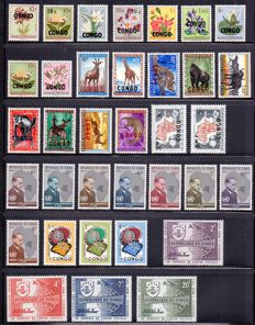 Congo, Zaire, Burundi, South Kasai and State of Katanga 1960/1980 - Composition of stamps, blocks