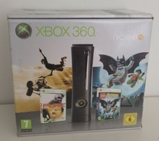 Boxed xbox 360 elite 120gb - complete with manuals and cables - with 2 controllers, headset and 2 games.
