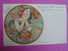Postcard after Alphonse Mucha - August - 1901