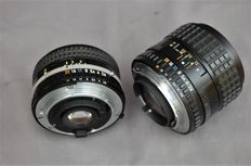 Nikon lens series E 28mm 1:2.8- and 100mm 1:2.8