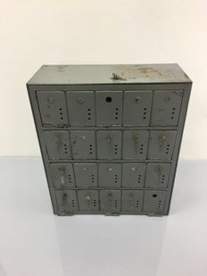 Industrial postbox cabinet 1960