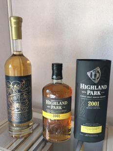 2 bottles - The Peatmonster limited edition 150cl & Highland Park 2001  100cl