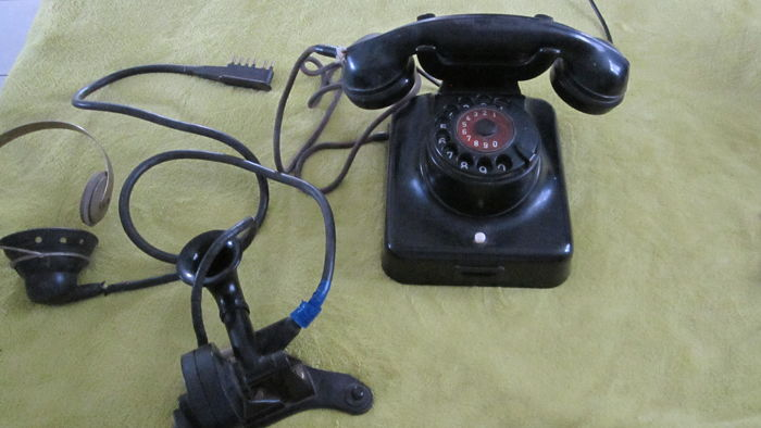 Old set of two Bakelite telephones