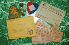 Lot with documents, badges, distribution vouchers - WW2