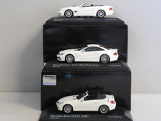 Minichamps - Scale 1/43 - Lot with 3 x Mercedes-Benz AMG