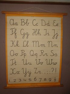 "Old writing cards / letter cards of the alphabet ABC of Tazelaar"" first clear ..... then quickly"