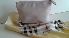 Burberry – Scarf and toiletry bag.