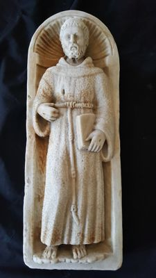 Pilaster with St Francis - Italy - late 19th century