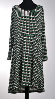 Michael Kors green dress in geometric pattern size XXL