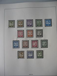 Berlin 1960/1990 – Collection with cut C and D issues from the stamp booklets