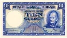 The Netherlands - 10 Guilders 1945II. William I / State mines - mevius 46-2