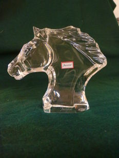 Baccarat - Cheval - Glass horse head