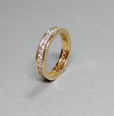 Memory ring in 14 kt gold with brilliants, 0.18 ct - RS 64