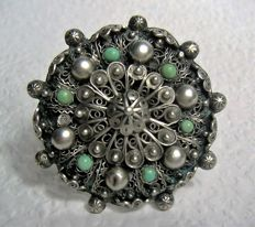 Antique brooch – From circa 1930 – With turquoise stones.
