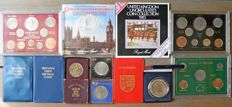 United Kingdom, Ireland and Jersey  – Lot of Various Coins in Sets 1951/1983 (12 items)