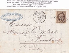 France 1862 to 1874 - 12 Letters to Foreign Destinations - 35 photos