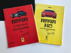 Ferrari - Lot of two portfolios, one on the F40 (16 photos) & one on all  mythical models of the brand
