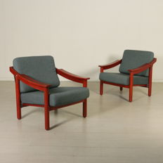 Vico Magistretti for Gavina - Pair of armchairs