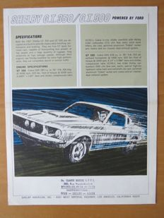 Ford Mustang Shelby G.T350/G.T.500 - 27 x 21 cm - 2 pages - ca. 1968