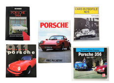 A Collection with 5 Porsche books.