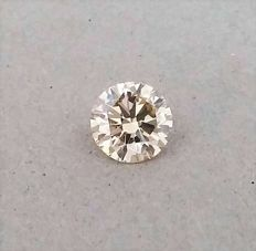 Natural Fancy Champagne -  Brilliant Cut  - 1.00 carat   -  VVS1 clarity - Natural Diamond - Comes With IGL Certificate + Laser Inscription On Girdle