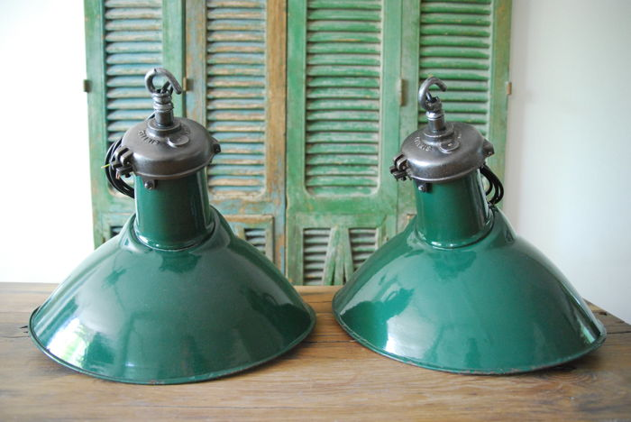 Simplex of England – set of vintage industrial lamps - Catawiki