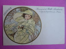 Postcard after Alphonse Mucha - February - 1901