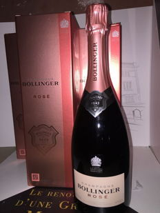 Bollinger Rosé champagne - 3 bottles (75cl) in gift box