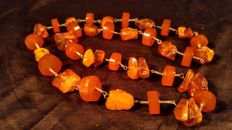 Vintage Baltic Amber necklace, 57 grams