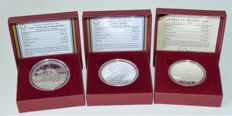 Austria - 10 and 20 Euro 2004 (3 different ones) - silver