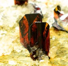 Terminated & Undamaged Rare Red Brookite Specimen with Quartz on Matrix - 43 Gram , 65*53*15 mm