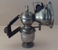 Old carbide lamp for bicycle or motorcycle, brand ROBA - c.1930